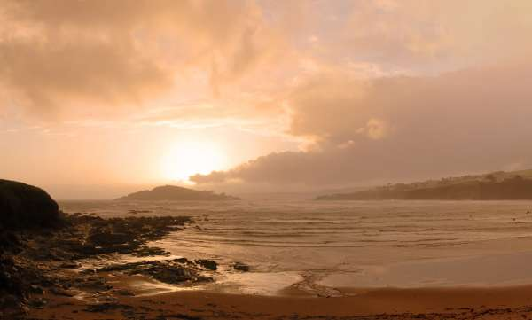 Burgh Island from Bantham at Sunset
