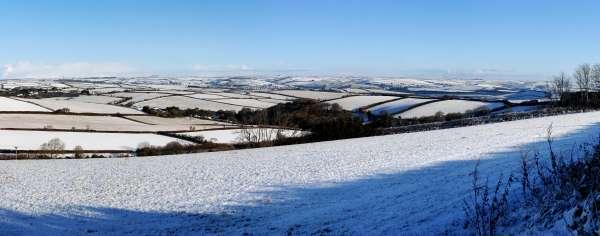 Snowy Malborough Fields