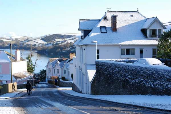 Snowy Salcombe Town