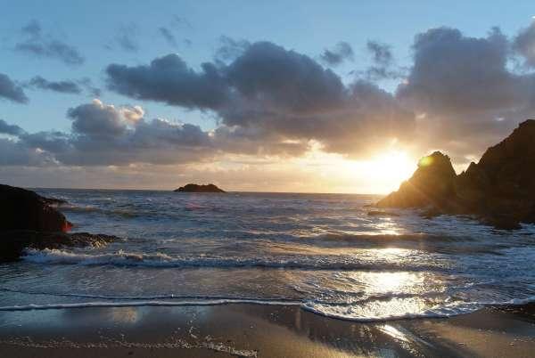 Soar Mill Cove Beach Sunset
