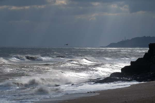 Choppy Weather at Torcross