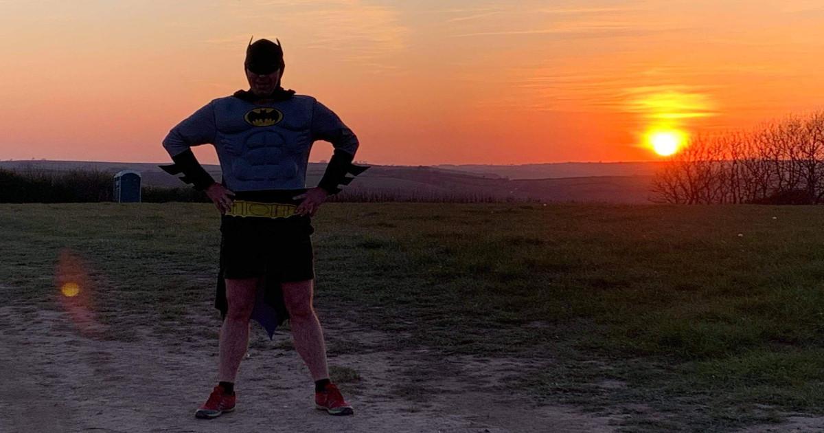 Man runs as Batman to raise money for cancer charity