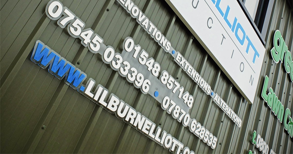 Lilburn & Elliott Laser Cut letters