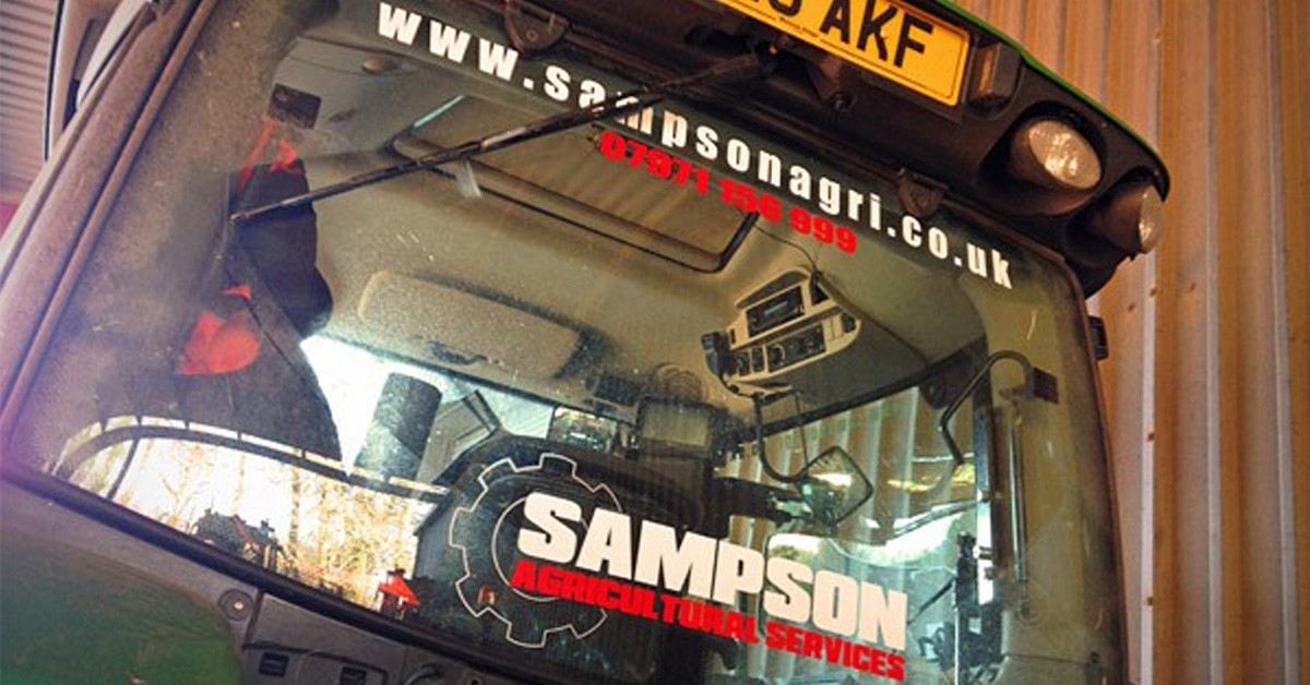 Signwring and Signs in the South Hams - Sampson Agricultural Tractor Stickers