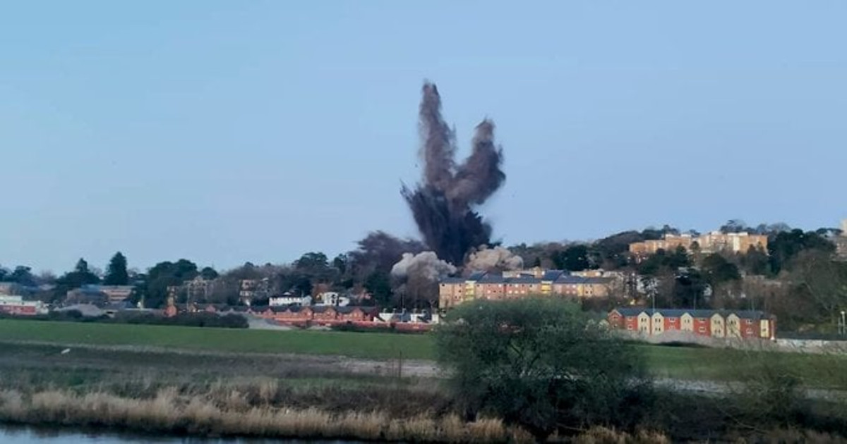 Local Coastguard teams among those supporting bomb detonation in Exeter