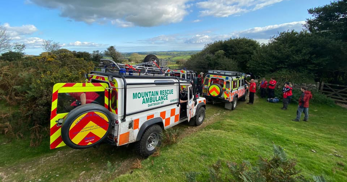 Dartmoor Search and Rescue Team helps police find and rescue injured walker
