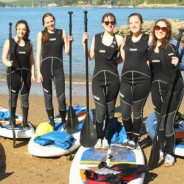 A group on a Hen Party - SUP Hire - Adventure South