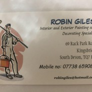 Robin Giles - Painter and Decorator - Kingsbridge