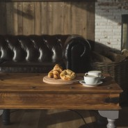 Oceans Restaurant - Fireplace & Sofa