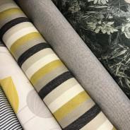 Rolls of designer fabrics