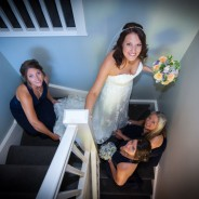 Bride and Bridesmaids Wedding Portrait