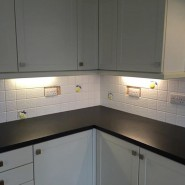 New faceplates and new sockets to kitchen