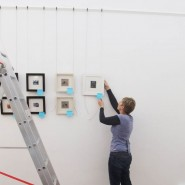 Hanging a new exhibition at Harbour House