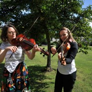 Violin rehersals in the grounds, 2017