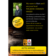 Wilkins Chimney Sweep Leaflet 1/2