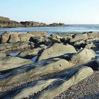 Ayrmer Cove Beach Rocks in South Devon