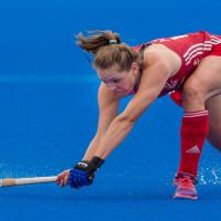 Kingsbridge hockey star Giselle Ansley battles for the bronze medal with GB team