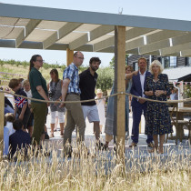 Duchess of Cornwall visits sustainable company Weaver Green at Heron Valley Orchard