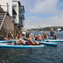 Paddle boarding with a difference in Dartmouth