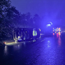Fire service advises checking tyres and windscreen wipers after attending an accident on the A38