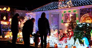 Christmas Lights in Churchstow, South Devon