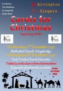 Alvington Singers Christmas Concert in Kingsbridge