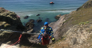 Lucky escape for a dog who fell off a cliff