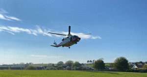 Helicopter airlifts two casualties after boat capsizes